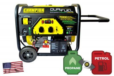Champion 7000W Dual Fuel Elverk med El-start